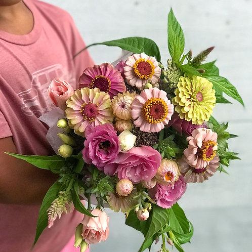 Wrapped Bouquet - Farm Fresh Mixed Flower Bouquets