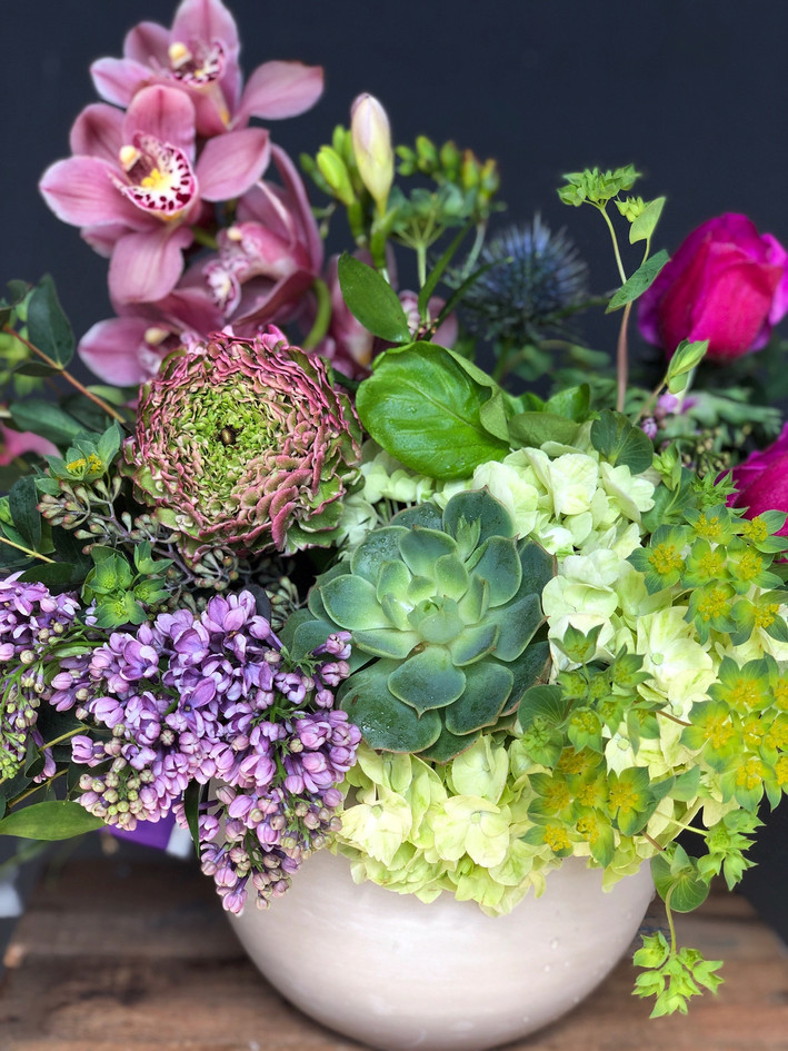 Jewel Tone Flower Arrangement.JPG