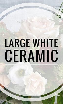 Large Arrangement White Ceramic