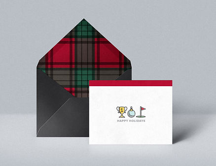 Women's Golf Holiday Card