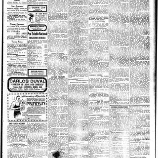 El Mercurio, 18 de noviembre de 1916
