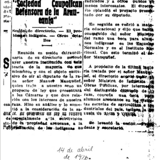 El Diario Austral, 14 de abril de 1926