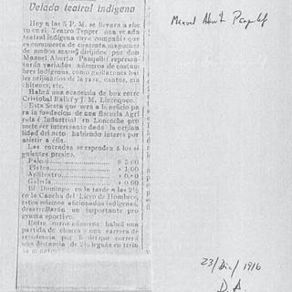 El Diario Austral, 23 de diciembre 1916
