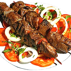 Lamb Shish Kebab on Charcoal