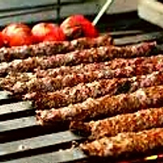 Lamb Kofta Kebab on Charcoal