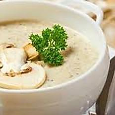 Mushroom Soup with Lamb