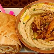 Hummus w/ Chicken Shawerma