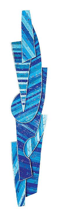 Relevo Azul Geométrico - 2005