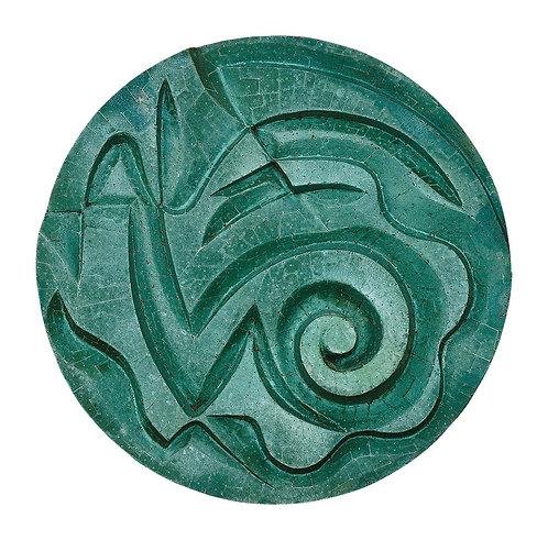 Mandala Verde com Espiral - 2009