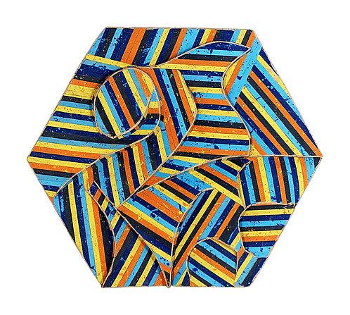 Mandala Hexagonal Policromado - 2004