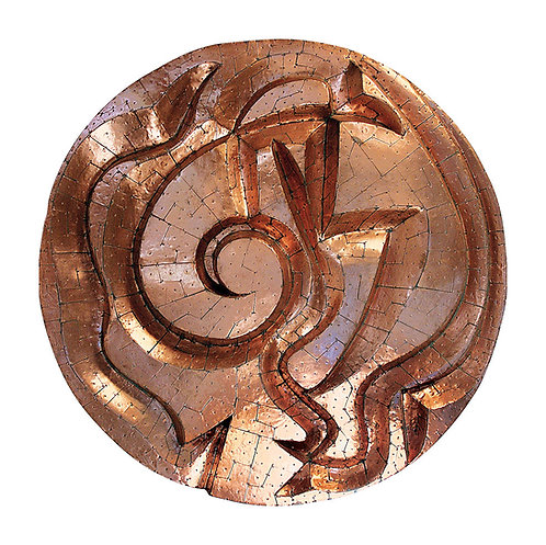 Mandala de Cobre Espiralado II - 2004