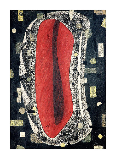Vermelho com Sinais Modernistas - 1990