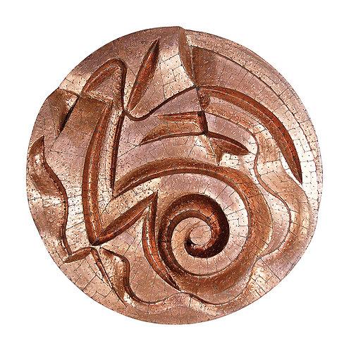 Mandala de Cobre Espiralado - 2004