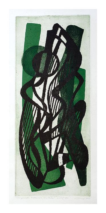Composição Modernista com Verdes - 2000