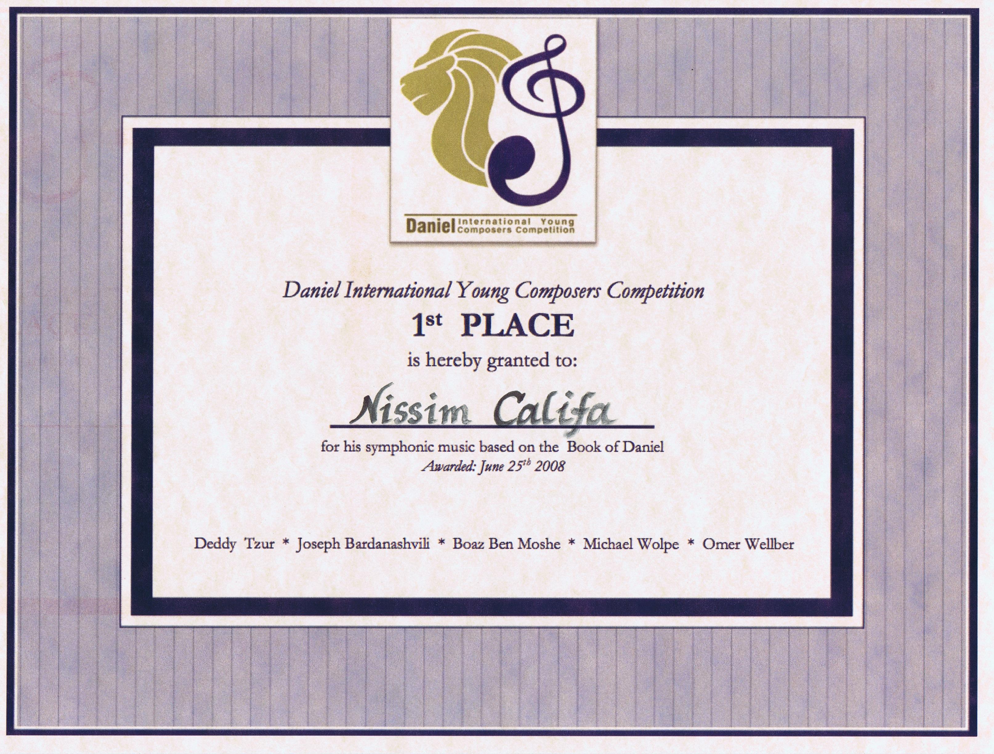 תעודת פרס ראשון בתחרות דניאל.jpg