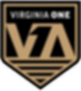 Virginia One Crest_Black and Gold_white