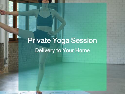 ทางเลือกใหม่ของการฝึกโยคะ Private Yoga Session (Delivery to Your Home)