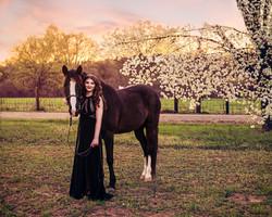 Girl & Horse Portrait Mocksville NC