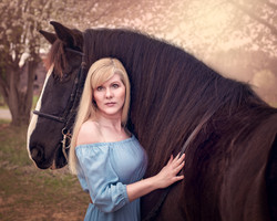 Woman & Horse Photography in NC