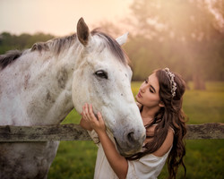 Girl & Horse Tanglewood Park