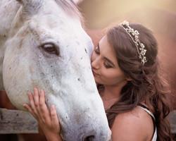 Girl & horse Portrait Tanglewood