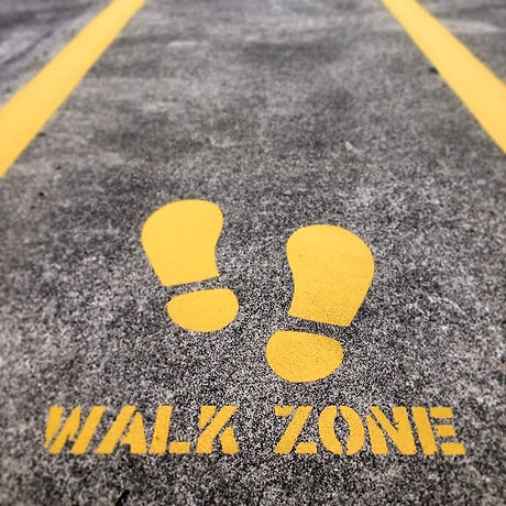 Creating safe walk zones for staff members at Scania #lines #linemarking #paint #painting #dulux #in