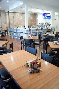 One of the private event spaces for lunches at Felix's Restaurant & Oyster Bar in New Orleans, LA