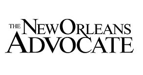 Logo for the New Orleans Advocate newspaper that wrote an article about Felix's Restaurant and Oyster Bar's Lakefront location in New Orleans, LA