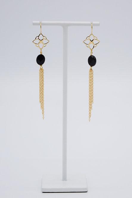 Boucles d'oreilles Arabesque - Onyx