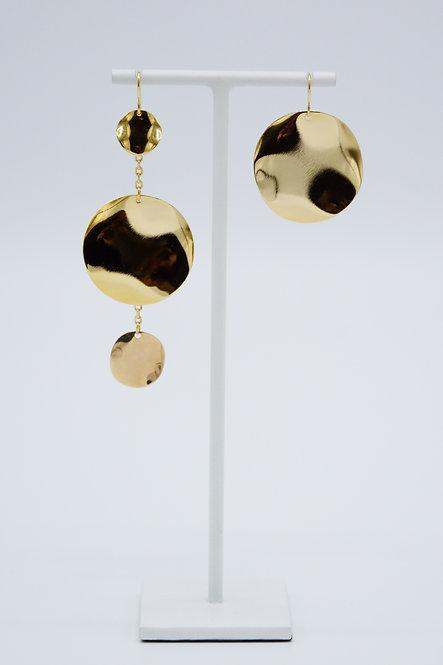 Boucles d'oreilles Sequin - Cercles Asymétriques