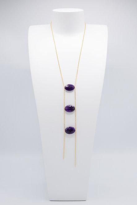 Sautoir Cravate - Améthyste