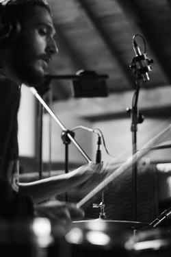 In the studio, 2018