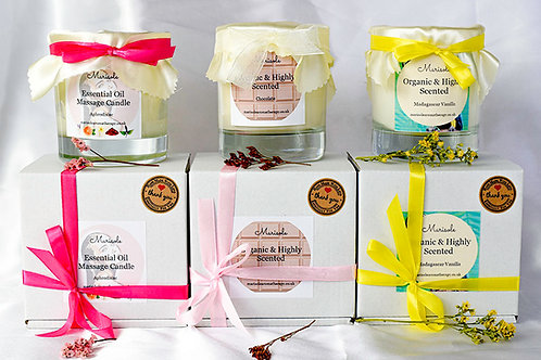 Highly Scented Organic Candles Gift Set (3 Candles)
