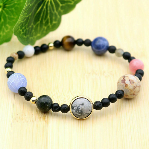 The Nine Planets Natural Stone Beads