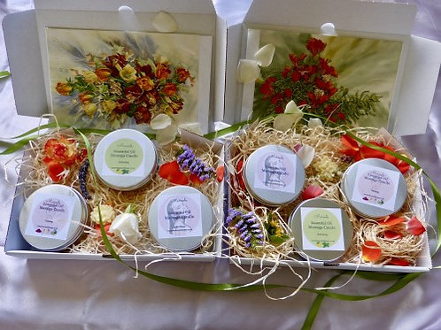 Essential Oil Massage Candles Gift Set (6 Candles)