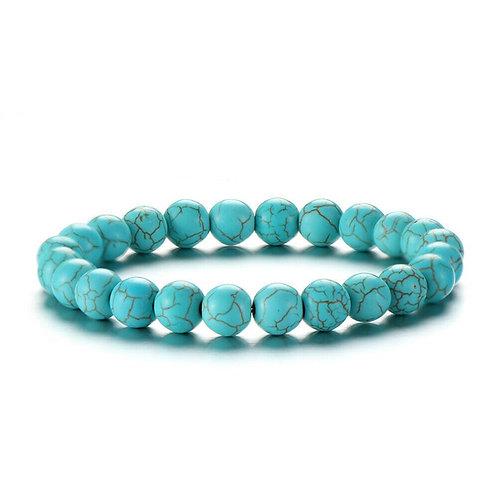 Turquoise Mala Meditation Bracelet. Protection, Health and Love