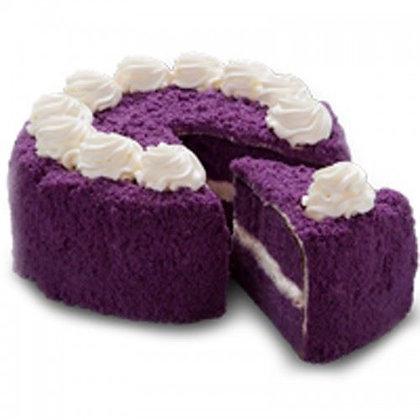 Red Ribbon Ube Cake