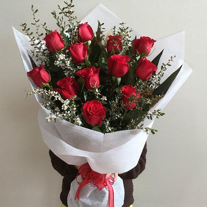 Ecuadorian Rose Dozen