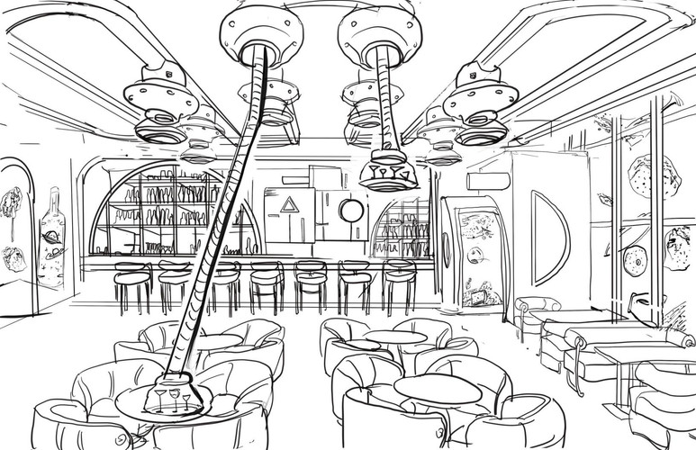 Concept Sketch for the iclub(3)