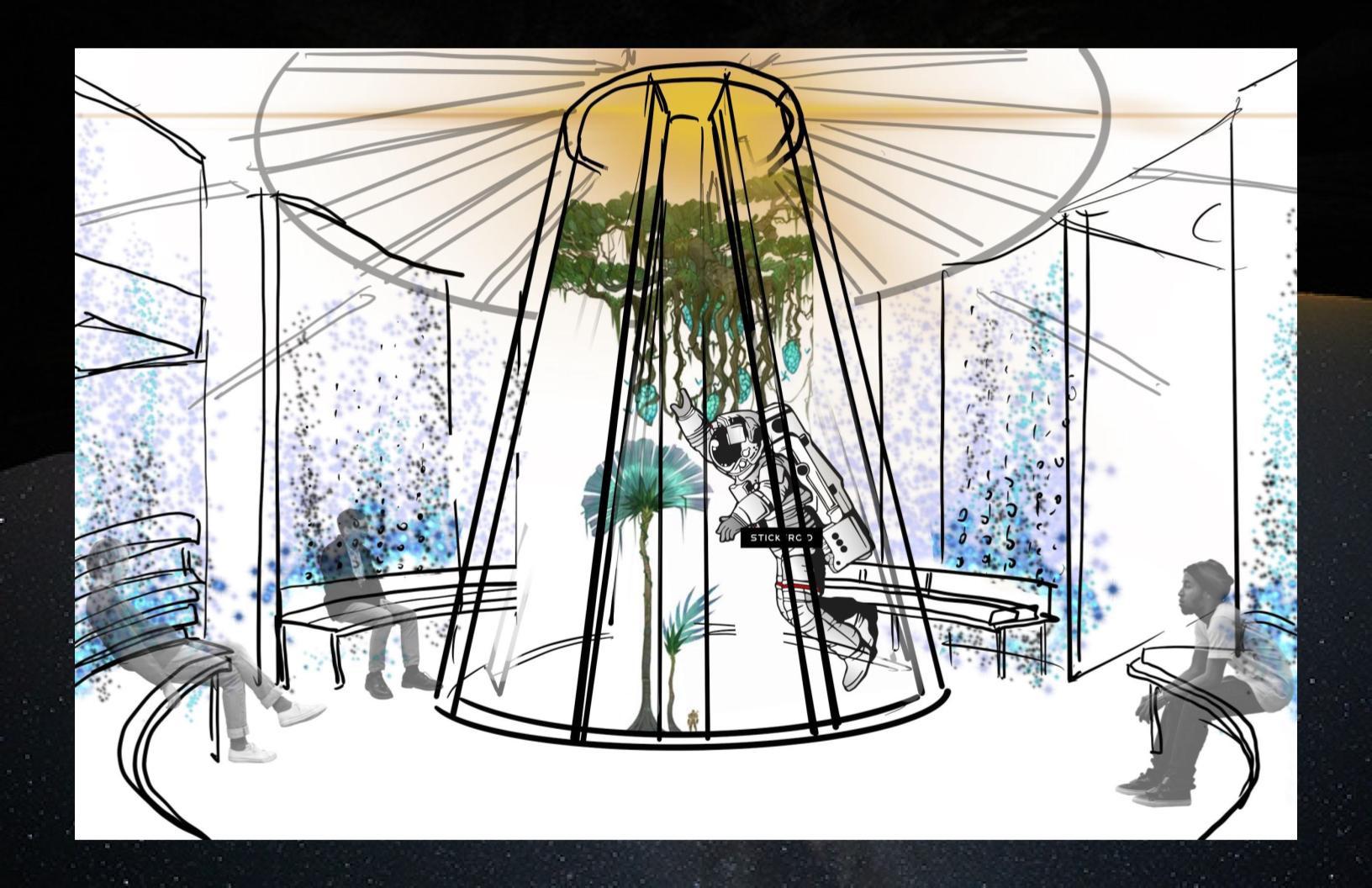 Concept Sketch for the Central Garden & Market (2)