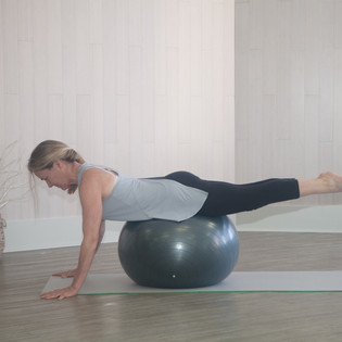 Plank modification for core strengthening.