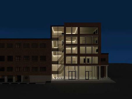 Urbant kontorbygg i Gjøvik