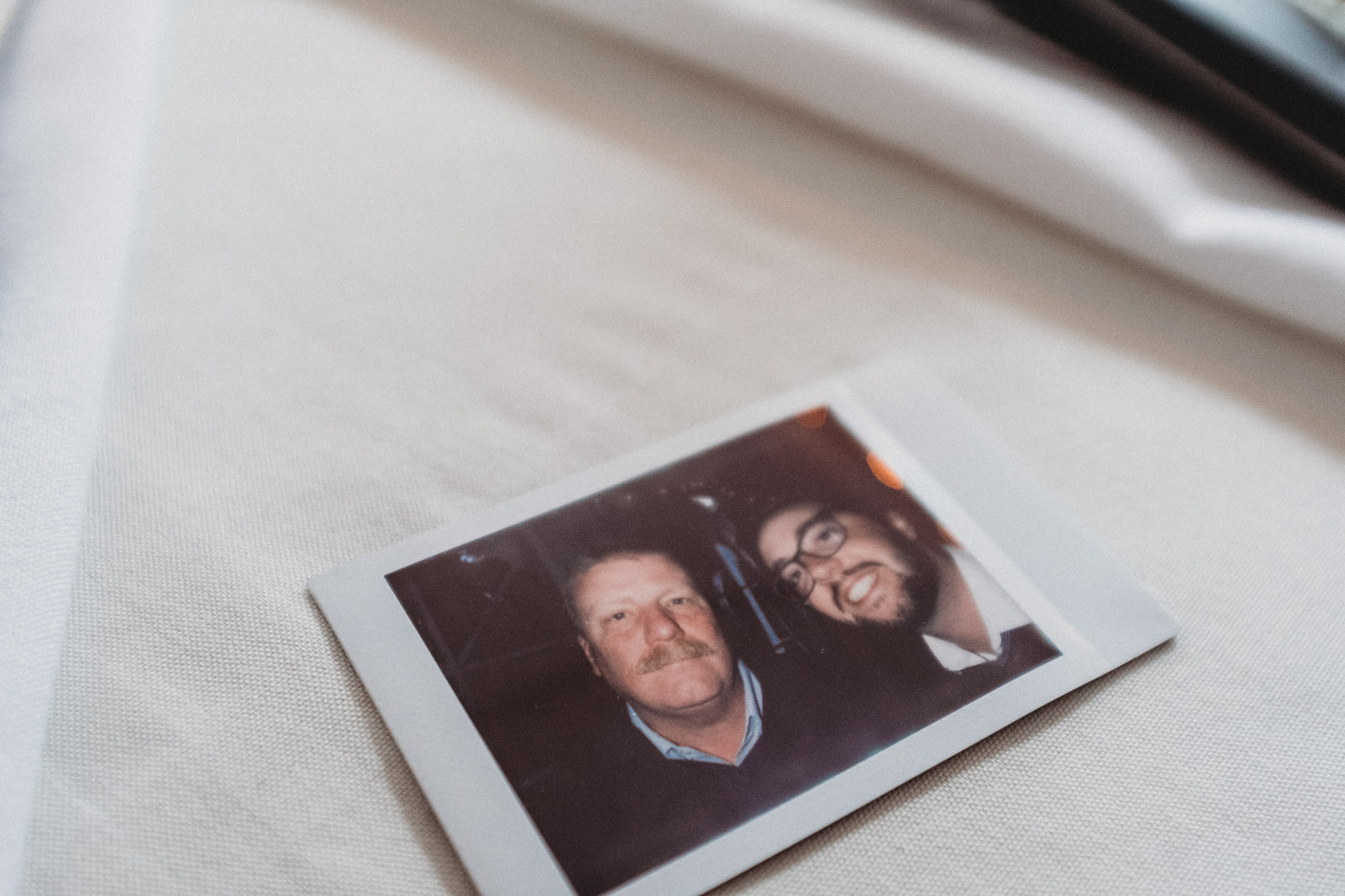 Close up of a father and son portrait.