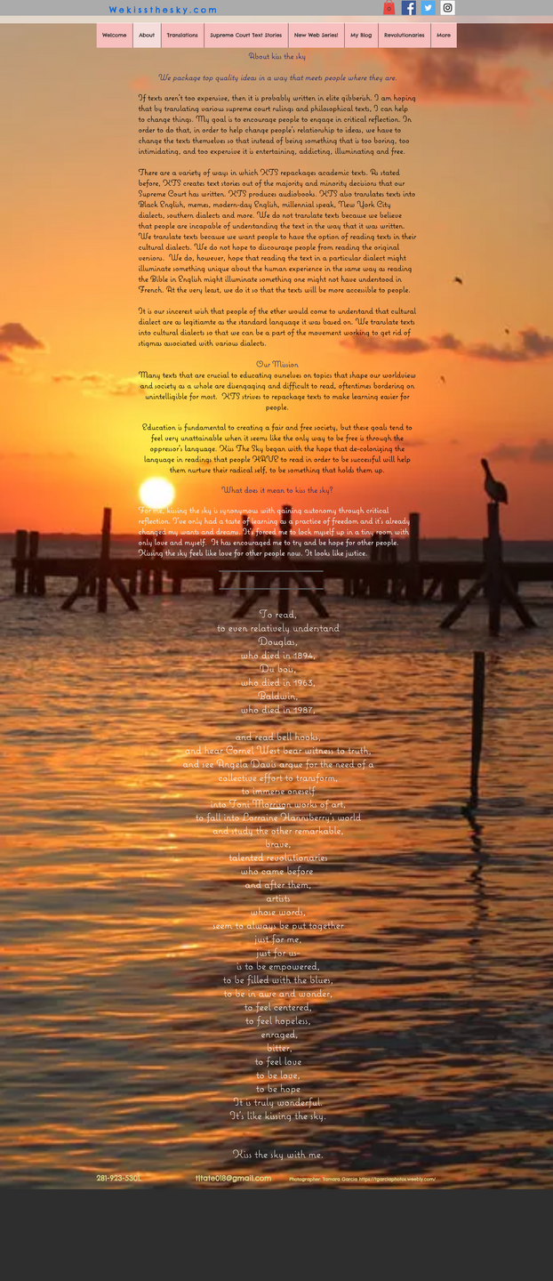 White text against a sunset background. Its nearly impossible to read and causes a lot of eye strain.