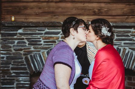 Dani and Sarah, a queer lesbian couple, have their first kiss.