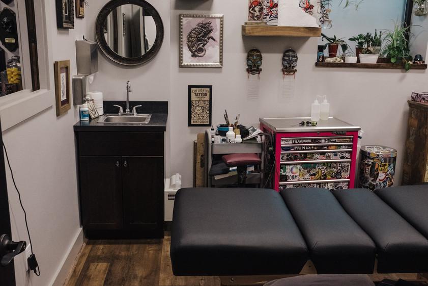 Guest artist room.