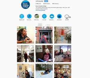 Mount Holyoke's Instagram Channel