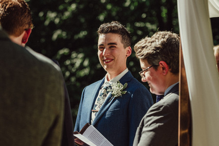 Person at the alter.