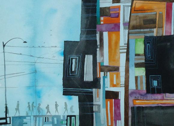 "Urban Sprawl 9x12"""