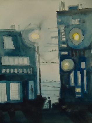 "LIttle City Alley 8x10"""